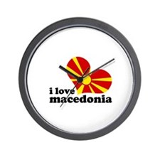 i love macedonia Wall Clock