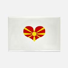 macedonian heart Rectangle Magnet