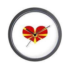 macedonian heart Wall Clock