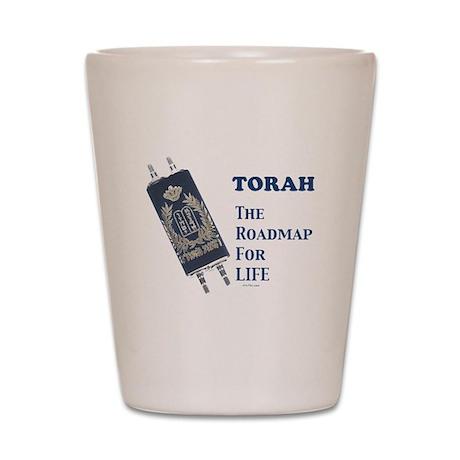 Torah Roadmap Jewish Shot Glass