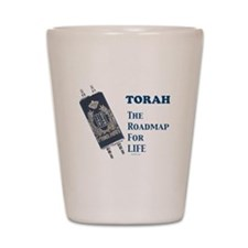 Torah Roadmap Jewish Shot Glass