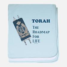 Torah Roadmap Jewish baby blanket