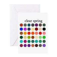 color analysis card clear spring