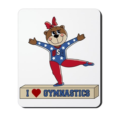 I Love Gymnastics Mousepad