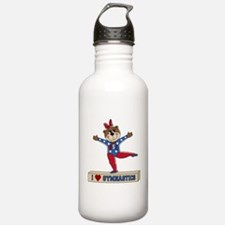 I Love Gymnastics Water Bottle