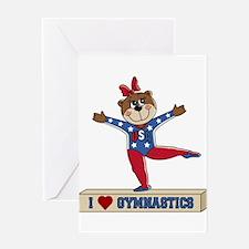 I Love Gymnastics Greeting Card