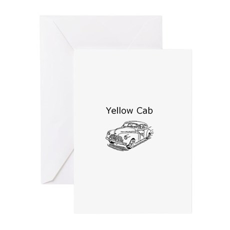 Yellow Cab Taxi Greeting Cards (Pk of 20)