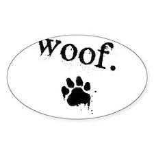 Woof Design Decal