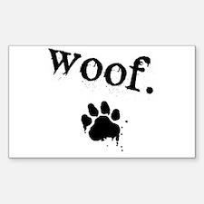 Cute Woof Decal