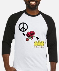 peace love and chickens Baseball Jersey