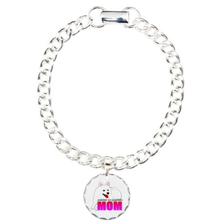 American Eskimo Dog Mom Charm Bracelet, One Charm