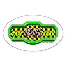 Moms Taxi Oval Decal