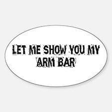Arm Bar Sticker (Oval)