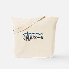 Jawsome Word Shark Tote Bag