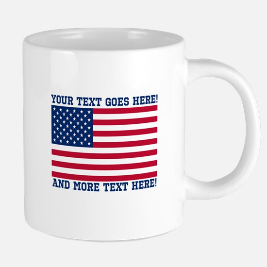 Personalized Patriotic Amer 20 oz Ceramic Mega Mug