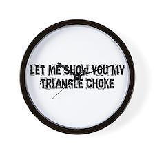 Triangle Choke Wall Clock