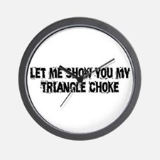 Triangle Choke Wall Clock