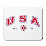 USA Firefighter Mousepad