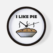 I Like Pie Wall Clock