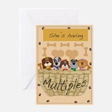 She's Having Multiples- blank puppy card