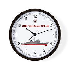 USS Yorktown CG-48 Wall Clock