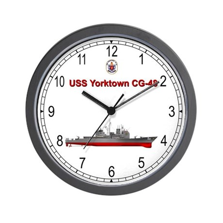 uss yorktown cg 48 wall clock by delphic com. Black Bedroom Furniture Sets. Home Design Ideas