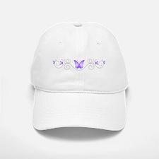 Purple Butterflies Baseball Baseball Cap