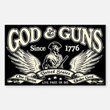 God & Guns Sticker (Rectangle)