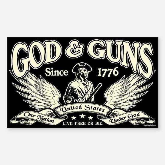 God & Guns Sticker (Rectangle)