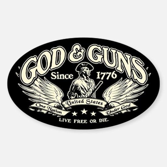God & Guns Sticker (Oval)