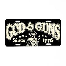God & Guns Aluminum License Plate