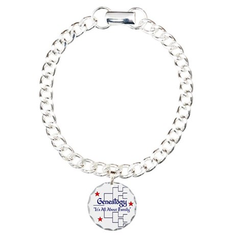 Genealogy Charm Bracelet, One Charm