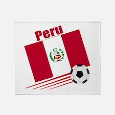 Peru soccer team Throw Blanket