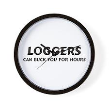 Loggers Wall Clock