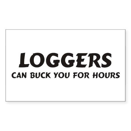 Loggers Rectangle Sticker