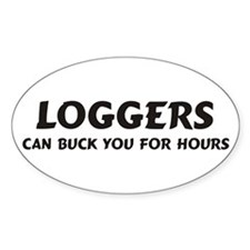 Loggers Oval Decal