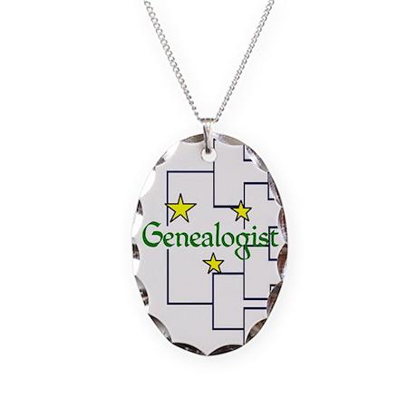 Genealogist Necklace Oval Charm