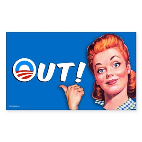Out! Sticker (Rectangle)