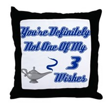 3 Wishes Throw Pillow