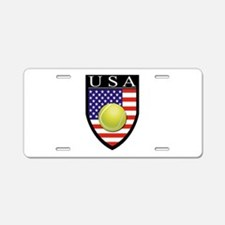 USA Tennis Patch Aluminum License Plate