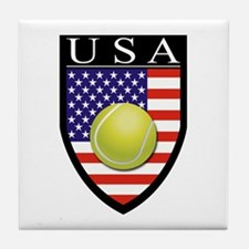 USA Tennis Patch Tile Coaster
