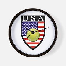 USA Tennis Patch Wall Clock