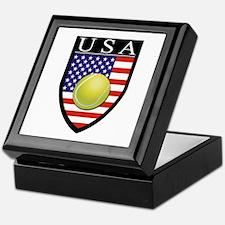 USA Tennis Patch Keepsake Box