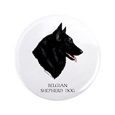 "Belgian Shepherd Dog 3.5"" Button"