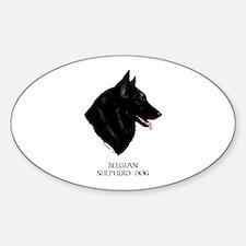 Belgian Shepherd Dog Sticker (Oval)