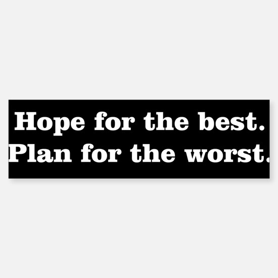 White Hope Plan Type Sticker (Bumper)