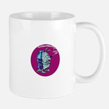 Red State Blue Armadillo Mug