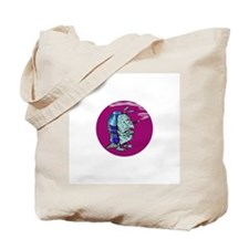Red State Blue Armadillo Tote Bag