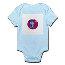 Red State Blue Armadillo Infant Bodysuit