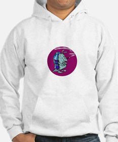 Red State Blue Armadillo Hoodie